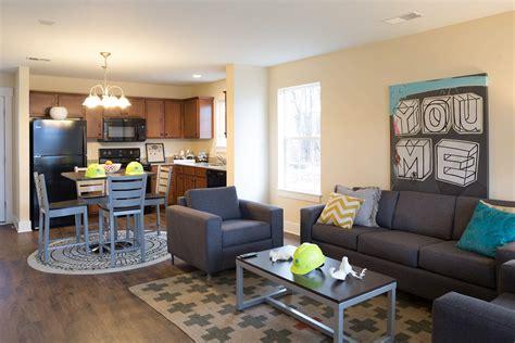 Student Apartment Complex Revitalizes Space Efficiency Student Apartment Lofts And Students student apartment living room home design plan