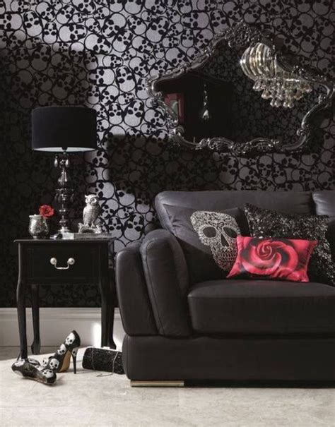 skull interior wallpaper home decor and interior