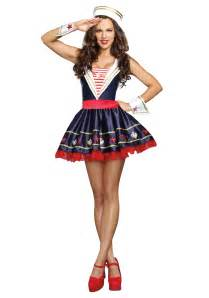 halloween costumes sailor women s shore thing sailor costume