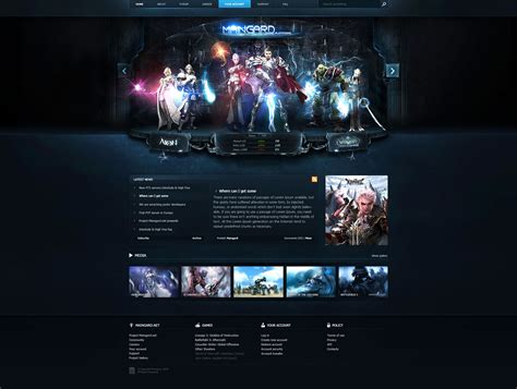 templates for gaming website guard game platform web template