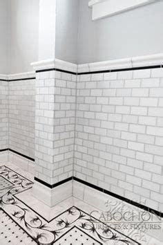 black and white border tiles for bathroom image result for pinterest white penny round tile black