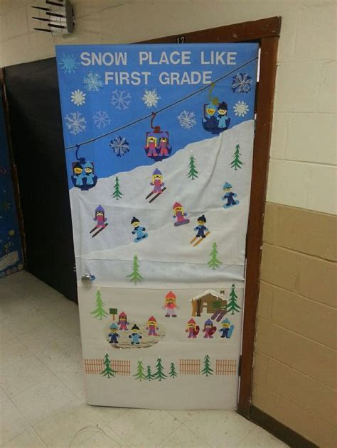 winter decorations for a door 17 best images about winter classroom decor on