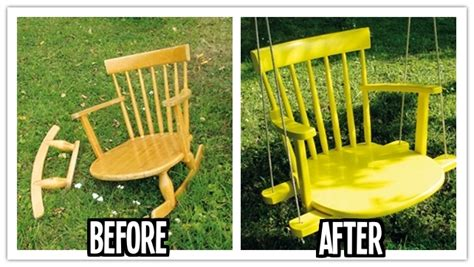 swing step how to reinvent a broken rocking chair into a swing