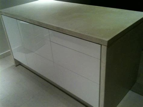 ikea kitchen island with drawers white concrete wrapped ikea kitchen island ikea hackers