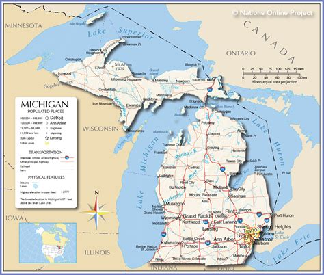 map of cities in michigan medicine and social justice