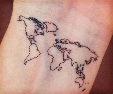 map of the world tattoo world map temporary