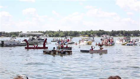 wax lake boat r cedar lake cardboard boat race youtube