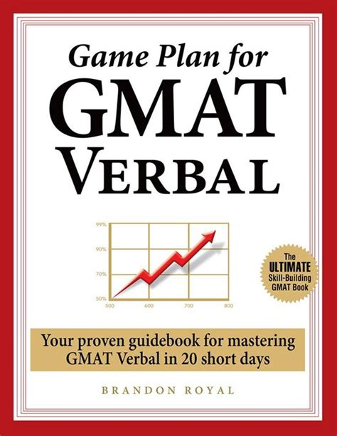 gmat verbal section breakdown bol com game plan for gmat verbal your proven guidebook