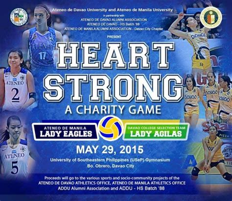Mba Davao Eagles Players by Strong Charity Ateneo De Manila Eagles In