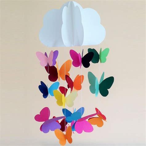 giostrine culla giostrina per culla neonato con nuvola e farfalle di carta