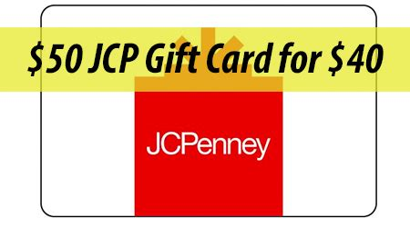 gift card deals jc penney 50 gift card for 40 coupons 4 utah - Jcpenney Gift Card Deal