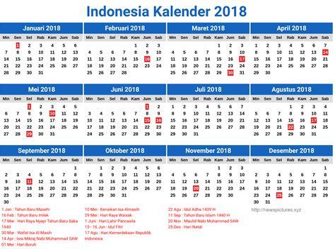 desain kalender indonesia  lengkap  hari