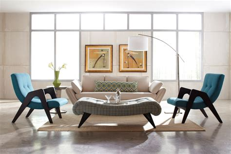 the retro modern interior design living rooms design in