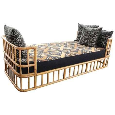 wicker day bed mid 20th century french rattan daybed at 1stdibs