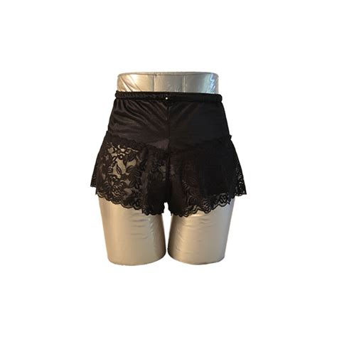 Lace Boy Shorts women s lace boy shorts black c s ostomy pouch