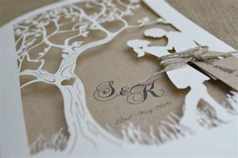 Laser Cut Tree Wedding Invitations laser cut wedding invitation rustic wedding invitation