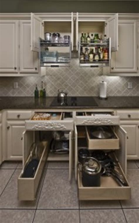 Sliding Drawers For Kitchen Cabinets by Innovative Sliding Cabinet Shelves To Save Your Kitchen