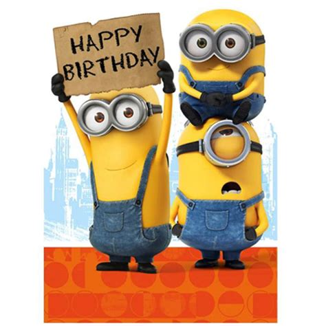 despicable me birthday card template happy birthday sign minions card minion shop