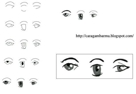 cara dan teknik menggambar untuk pemula bentuk mata dalam