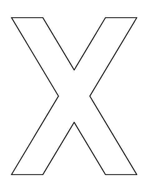 printable letter x letter x pattern use the printable outline for crafts