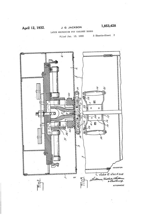 mechanism for cabinet doors patent us1853428 latch mechanism for cabinet doors