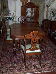 Antique Dining Room Table And Chairs by Antique Mount Airy Dark Wood Dining Room Table With 6