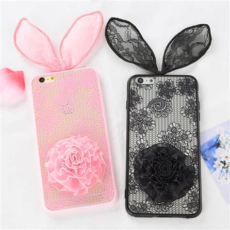Iphone 6 Plus Iphone 6s Plus 3d 3d lace bunny ears cover for iphone 6 plus 6s plus 5 5 inch chicleader