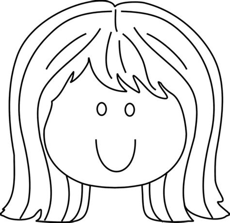 coloring page girl face free coloring pages of gir face
