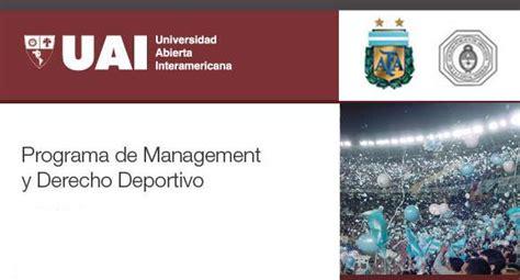 derecho uai la uai lanza su programa de management deportivo marca