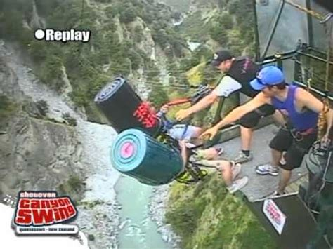 new zealand cliff swing worlds first tandem bin laden canyon swing queenstown
