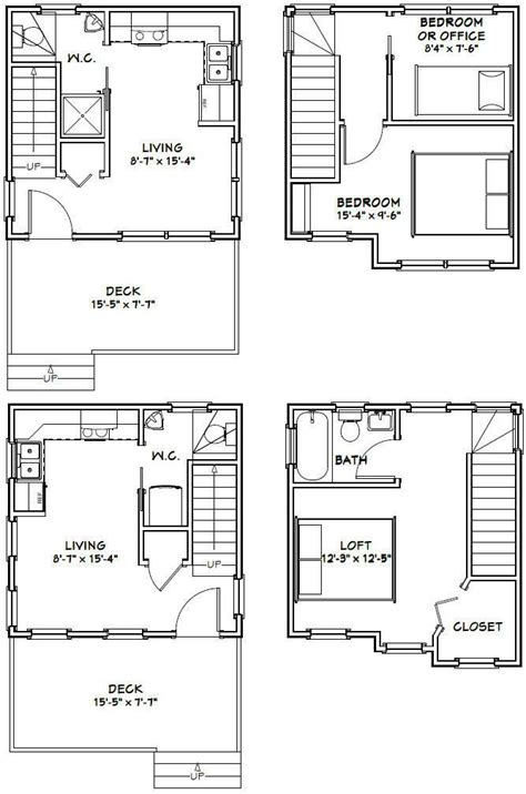 16x16 tiny houses pdf floor plans 466 sq ft 463 sq