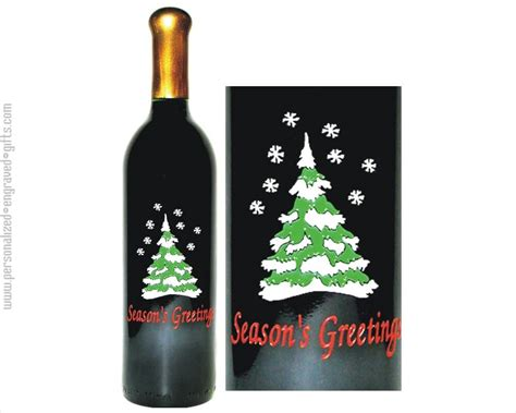 custom engraved wine bottles christmas holidays