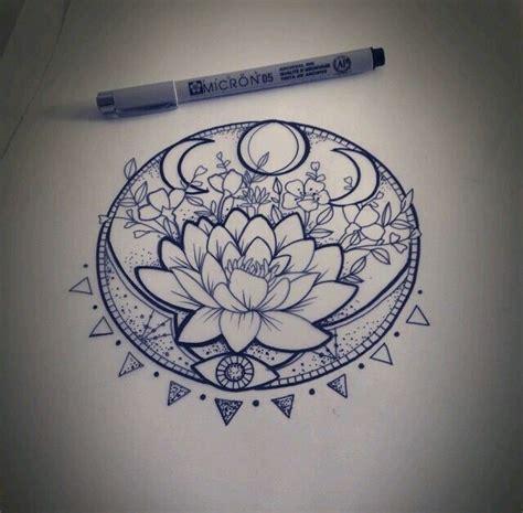 flor de loto mandala dibujo tattoo pinteres