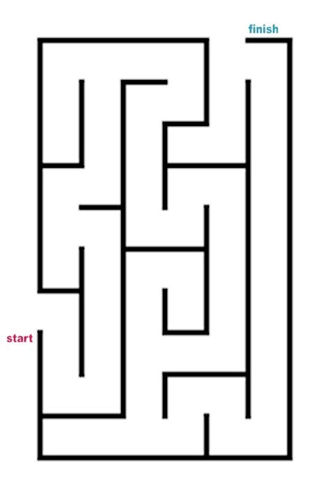 easy blueprint maker mazes to print easy rectangle mazes