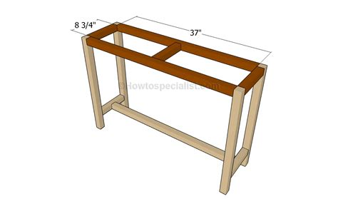 console table plans howtospecialist how to build step how to build a console table howtospecialist how to