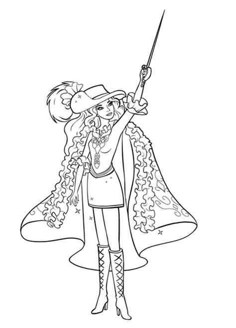 barbie musketeers coloring pages barbie and the three musketeers coloring pages to download