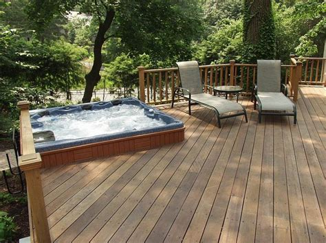 Backyard Deck Ideas With Tub by 13 Best Images About Tubs Decks On Tub
