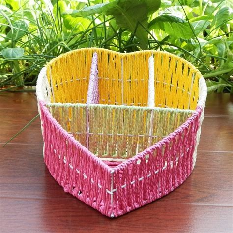 Handmade Decorative Baskets - aliexpress buy handmade paper string knitted