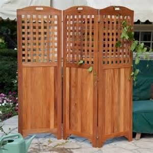 Outdoor Room Dividers Premium Plantation Teak Outdoor Room Divider At Hayneedle