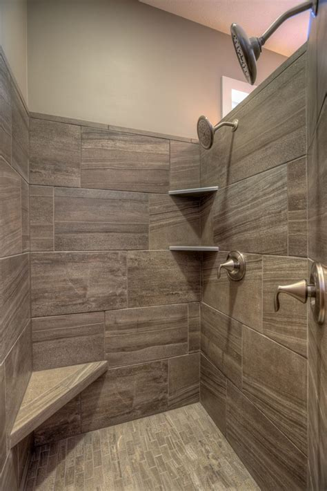 upstairs bathroom corner shower pinteres walk in tile master shower with corner seat and corner