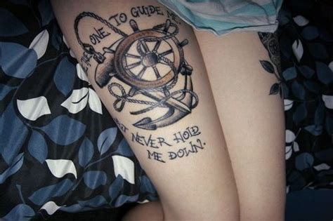 anchor down tattoo be the one to guide me but never hold me tattoos