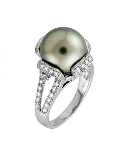 Wedding Rings With Pearls by Pretty Pearl Engagement Rings Martha Stewart Weddings