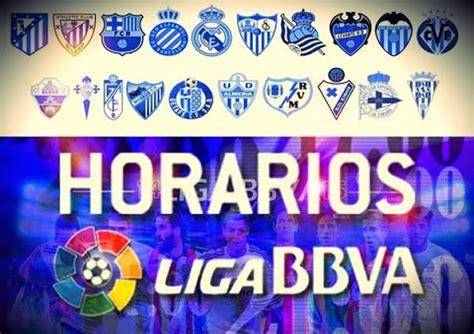 Calendario Liga Santander Horarios Horarios Partidos S 225 Bado 4 De Octubre Jornada 7 Liga