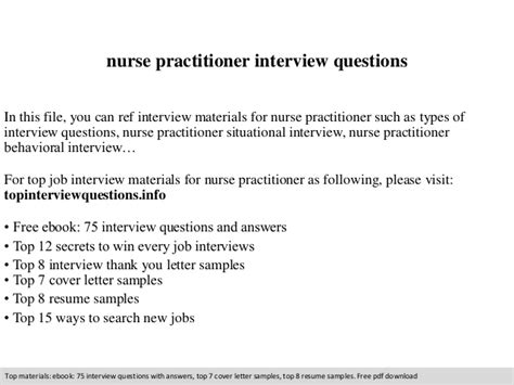 Resume Sample For Nurse by Nurse Practitioner Interview Questions