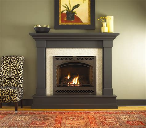Gas Fireplace Mantel Surrounds by Kenwood Wood Mantel By Heat N Glo Stain Fireplace