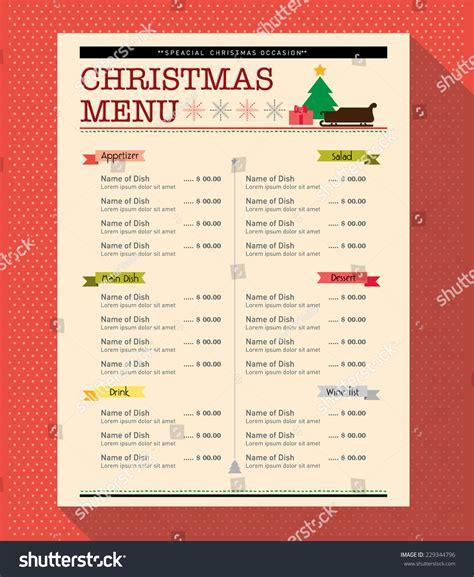 food menu layout design christmas menu food drink design template stock vector