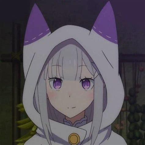 Emilia Coat emilia rezero re zero white coat hoodie cat