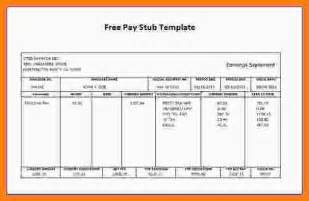 check stub templates paystub template free autos post