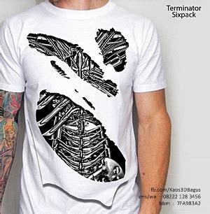 Kaos 3d Umakuka Terminator Sixpack terminator sixpack kaos 3d bagus