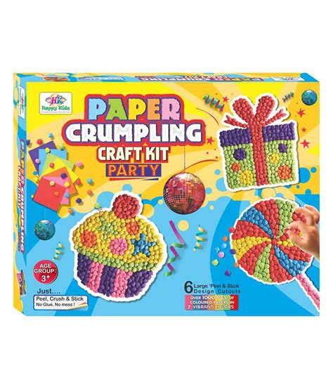 crafting kits for happy kidz craft toys paper crumpling craft kit